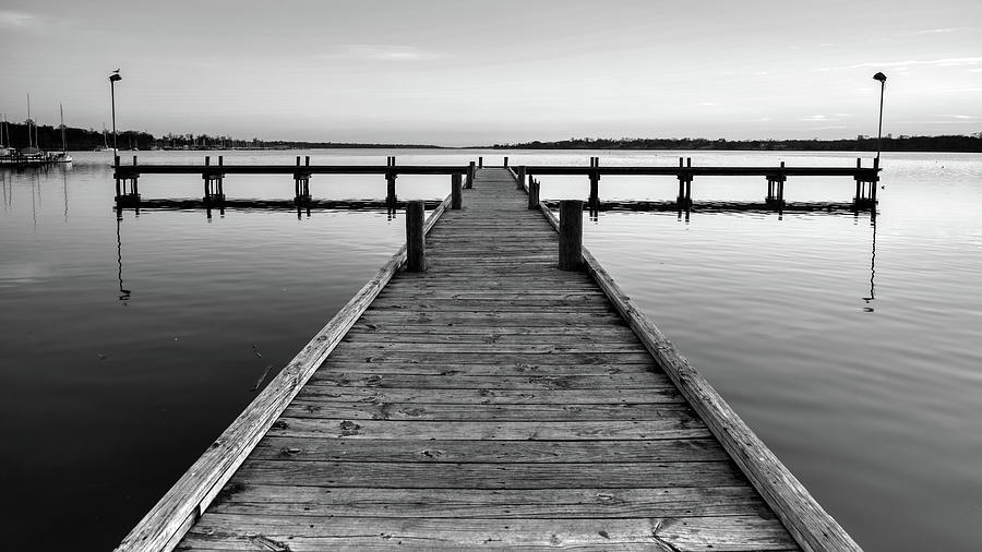 Silent Reflections Monochrome by Rospotte Photography