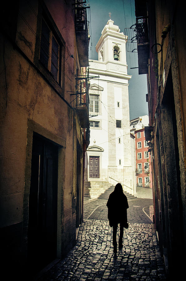 Silhouette in Old Lisbon by Carlos Caetano