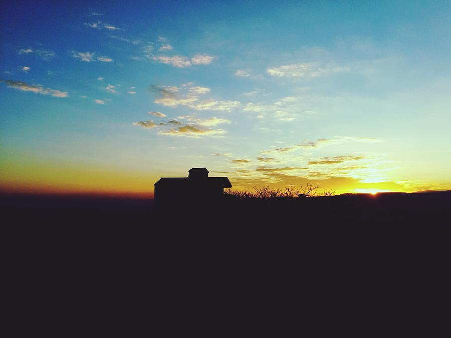 Silhouette Of Farmhouse At Sunrise Photograph by Shivani Sawant / EyeEm