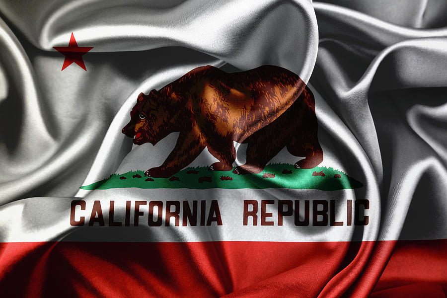 Silky California Flag Photograph
