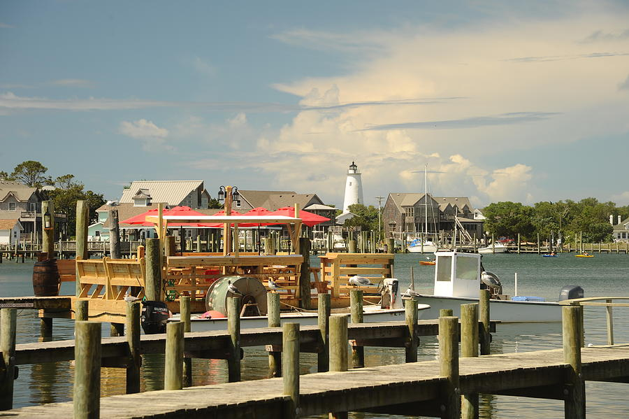 Obx Photograph - Silver Lake Waterfront by Steven Norris