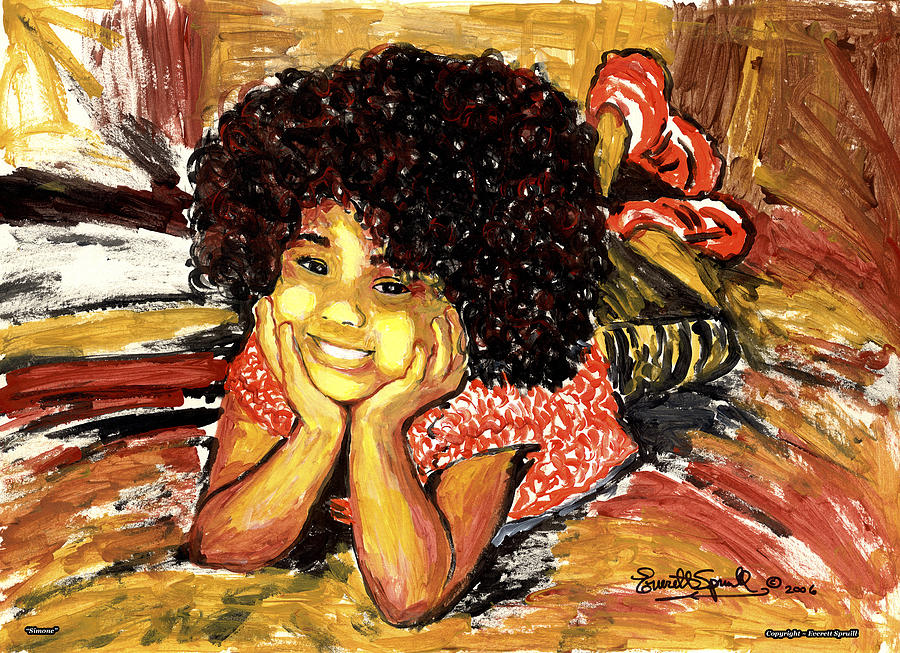 Cubism Painting - Simone  by Everett Spruill
