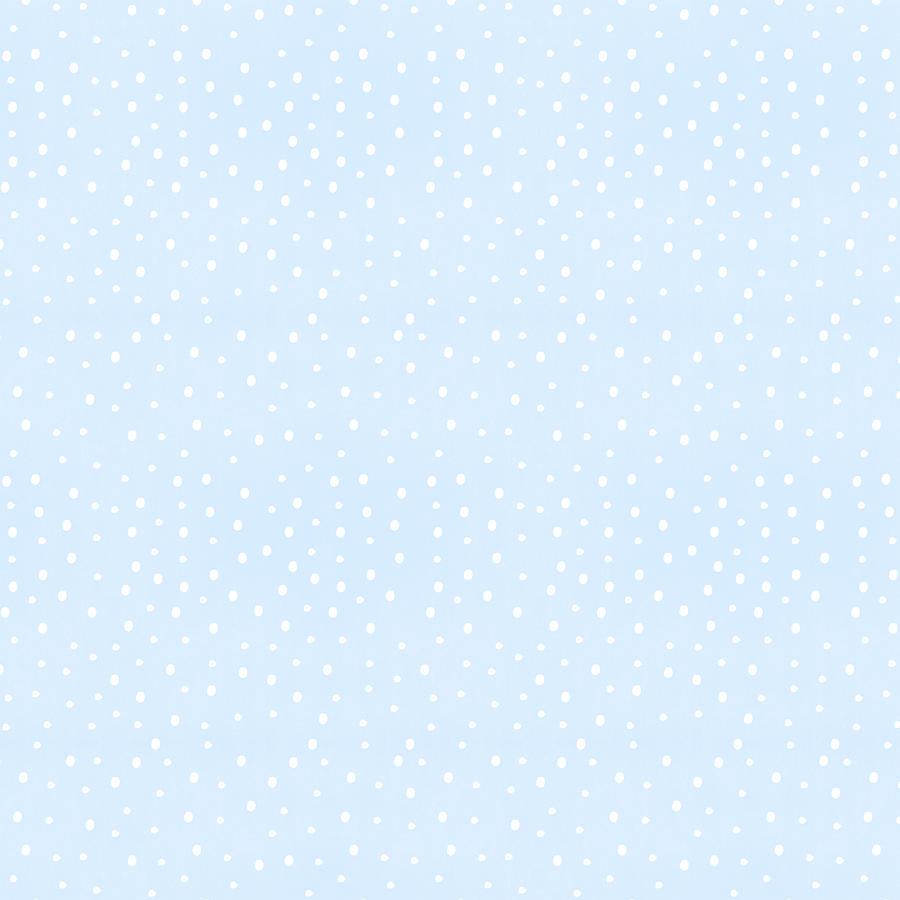 Snow Digital Art - Simple Blue Snow Pattern - Art by Jen Montgomery by Jen Montgomery