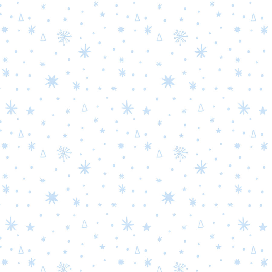 Stars Painting - Simple Stars and Snow Pattern - Art by Jen Montgomery by Jen Montgomery