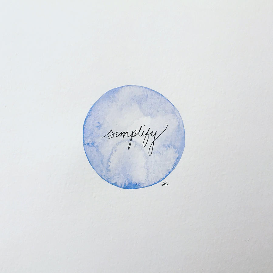 Simplify by Anna Elkins