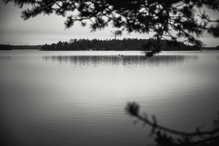Rowboat Photograph - Simply fishing by Marko Hannula