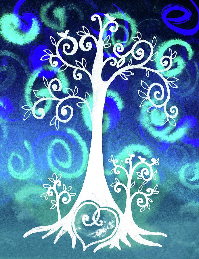 Singing Whimsical Tree And Hidden Heart Painting