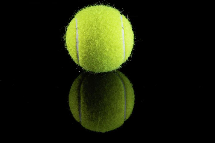 Single Tennis Ball Photograph