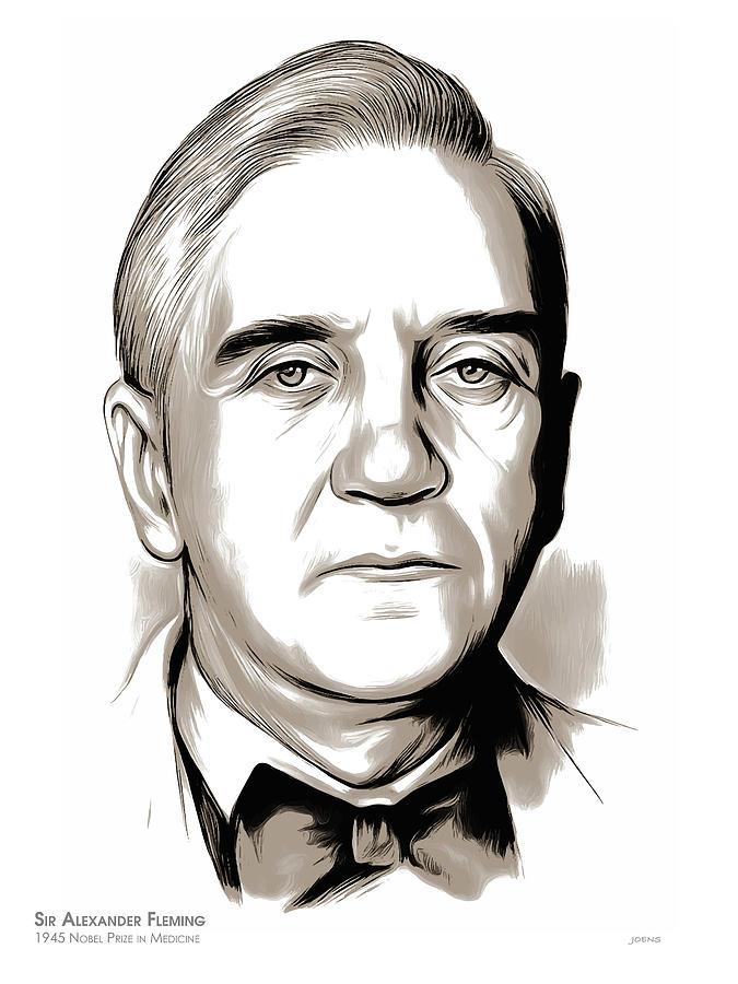 Sir Alexander Fleming Mixed Media