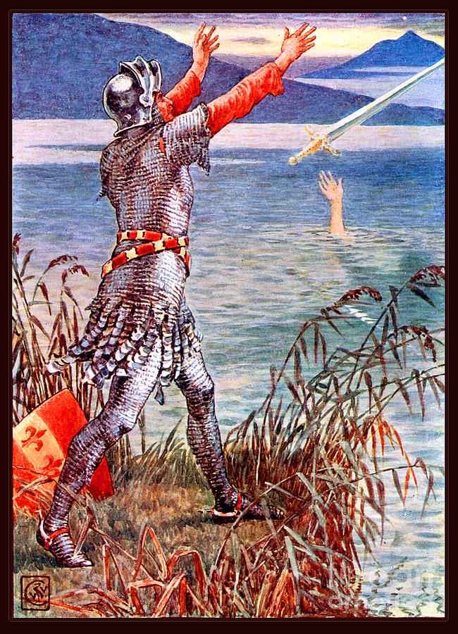 Sir Bedevere Returns Excalibur To The Lake Painting