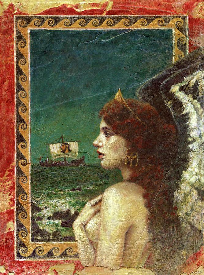 Siren On Plaster Painting