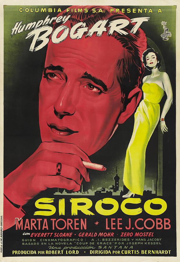 sirocco, With Humphrey Bogart, 1951 Mixed Media