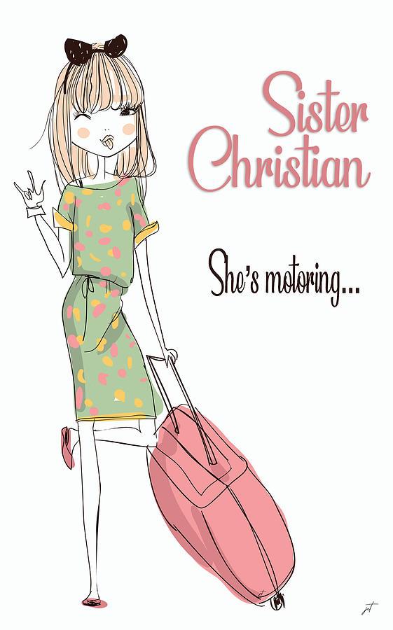 Music Digital Art - Sister Christian Song Art Print by Ink Well