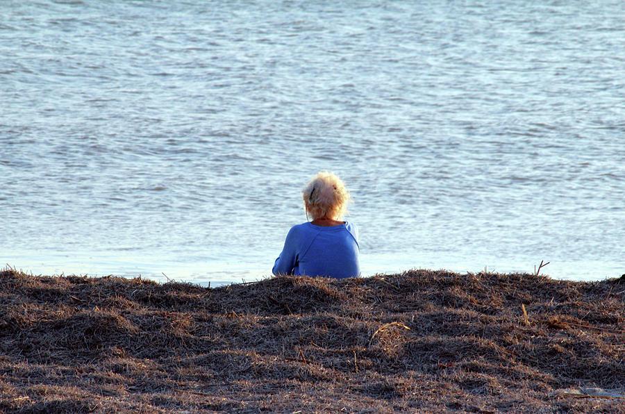 Sitting On The Beach by Cynthia Guinn