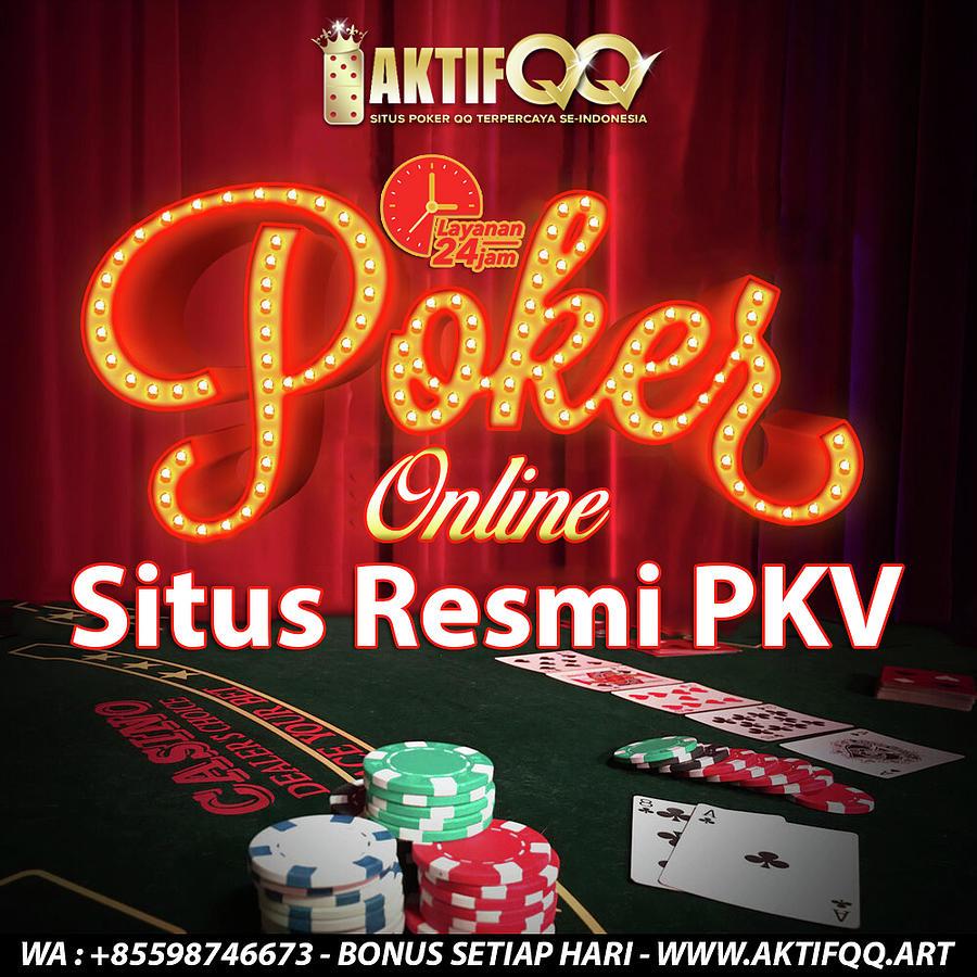 Situs Poker Online Indonesia Resmi Pkv Mixed Media By Aktifqq