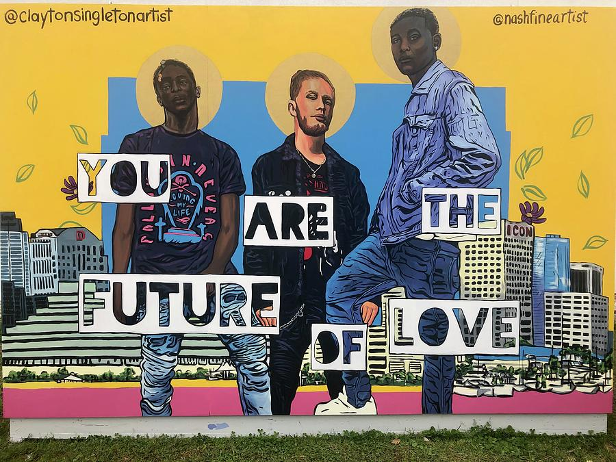SITW future of love  Painting by Clayton Singleton