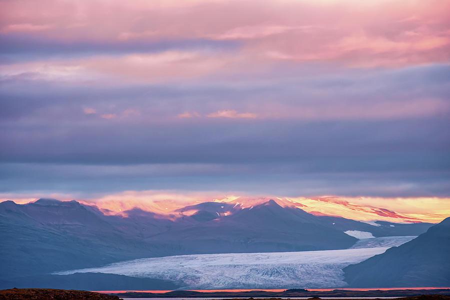 Skaftafellsjokull Glacier Tongue In Iceland At Sunset IIi Photograph