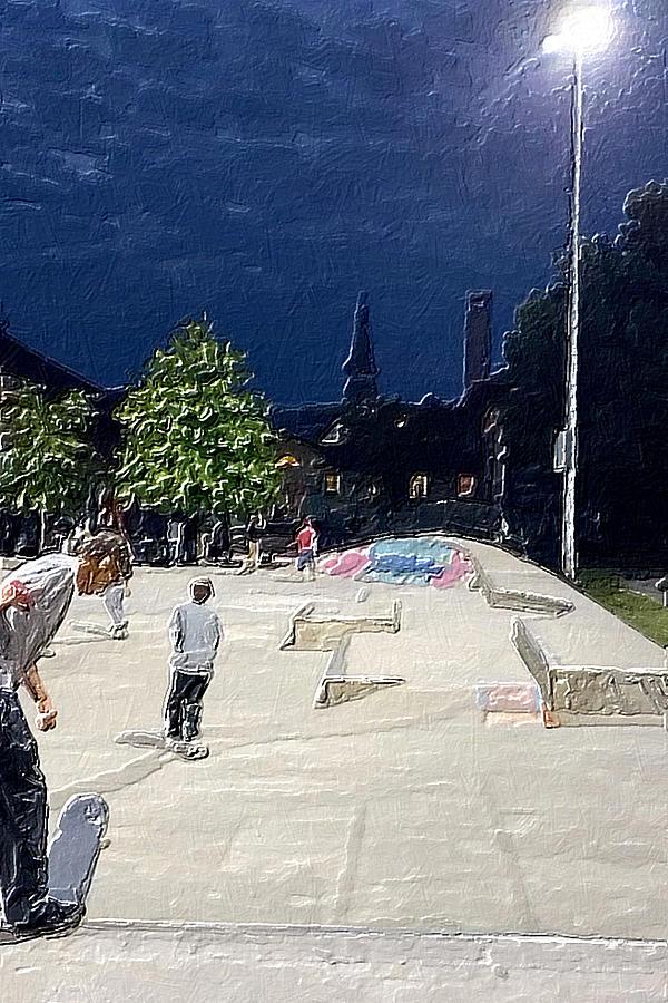 Skateboard Park Study Painting