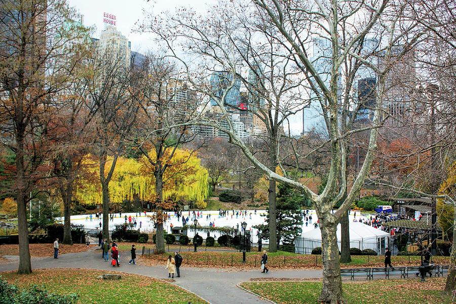 Skating Rink At Central Park Photograph