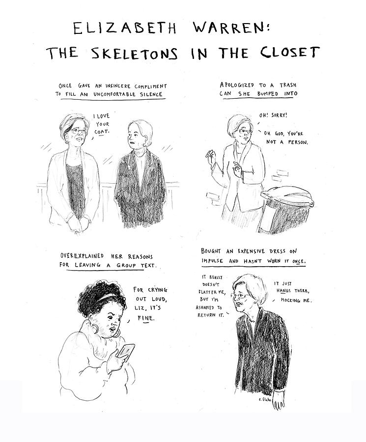 Skeletons In The Closet Drawing by Emily Flake