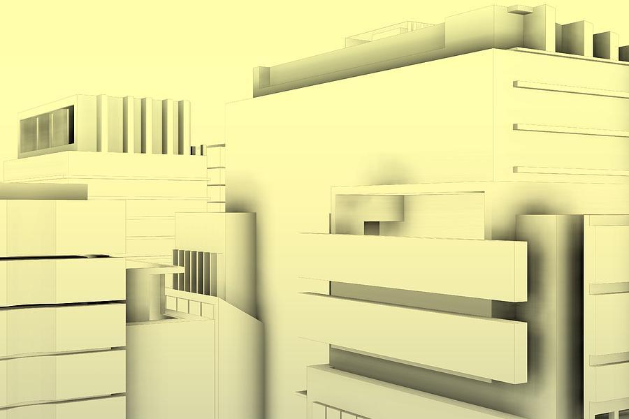 Sketch Architecture Poster .0 Digital Art