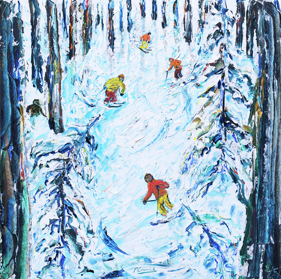 Ski Poster from Mt Bachelor Oregon USA by Pete Caswell