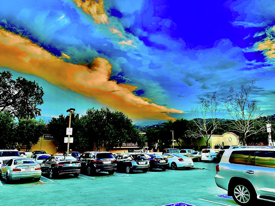 Sky And Parking Lot Photograph