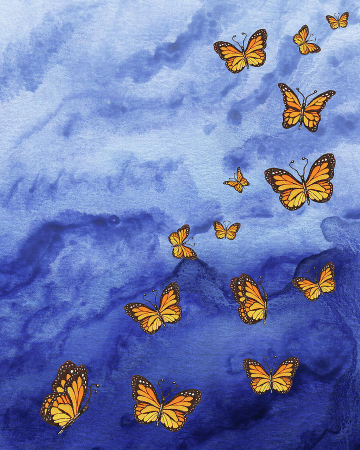 Sky Is The Limit Dance Of Butterflies Painting