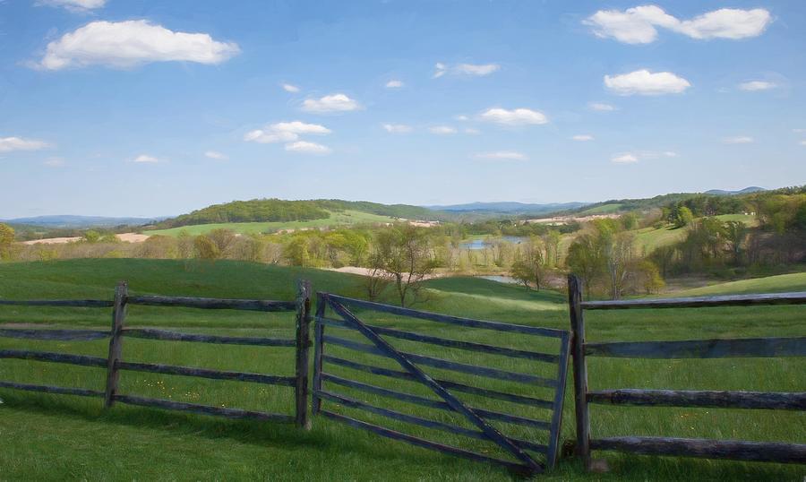 Sky Meadow View Digital Art