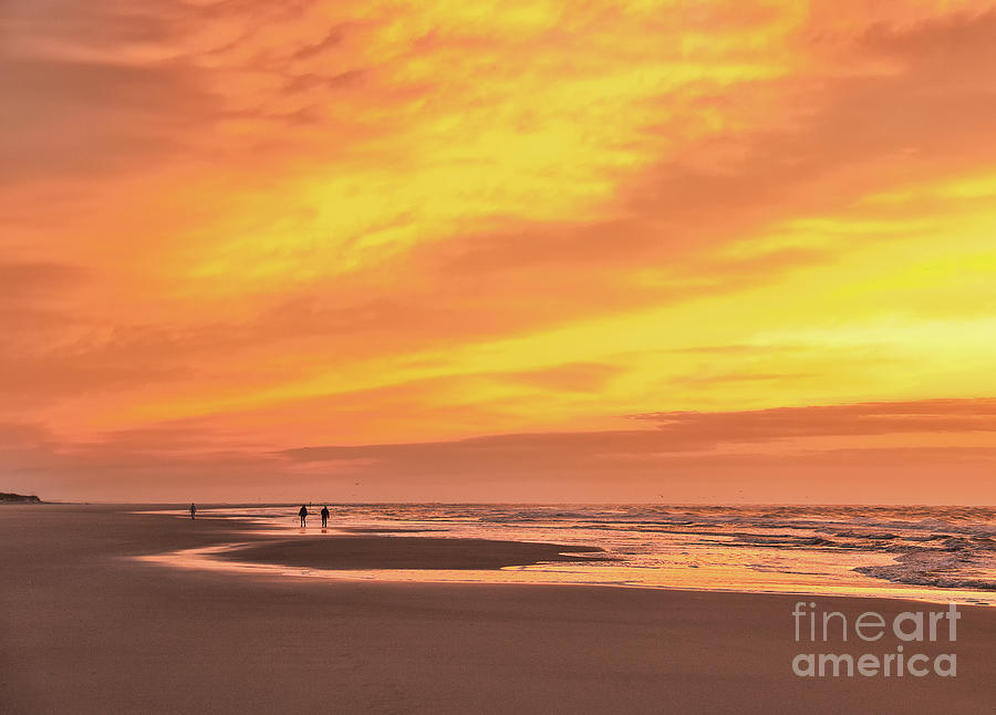 Beach Photograph - Sky On Fire by Michelle Tinger