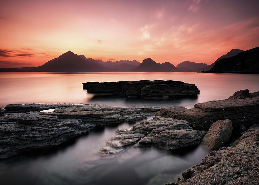 Isle Of Skye Photograph - Skye Sunset Afterglow by Grant Glendinning