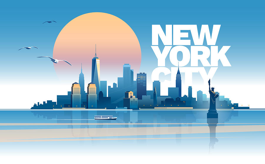 Skyline of New York city Drawing by Zbruch