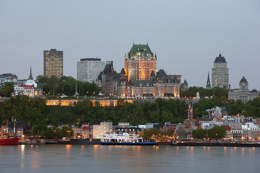 Skyline of Quebec City Photograph by Guy Vanderelst
