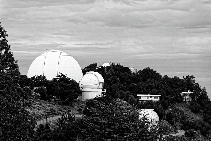 Skywatchers -- Telescope Domes at Lick Observatory near San Jose, California by Darin Volpe