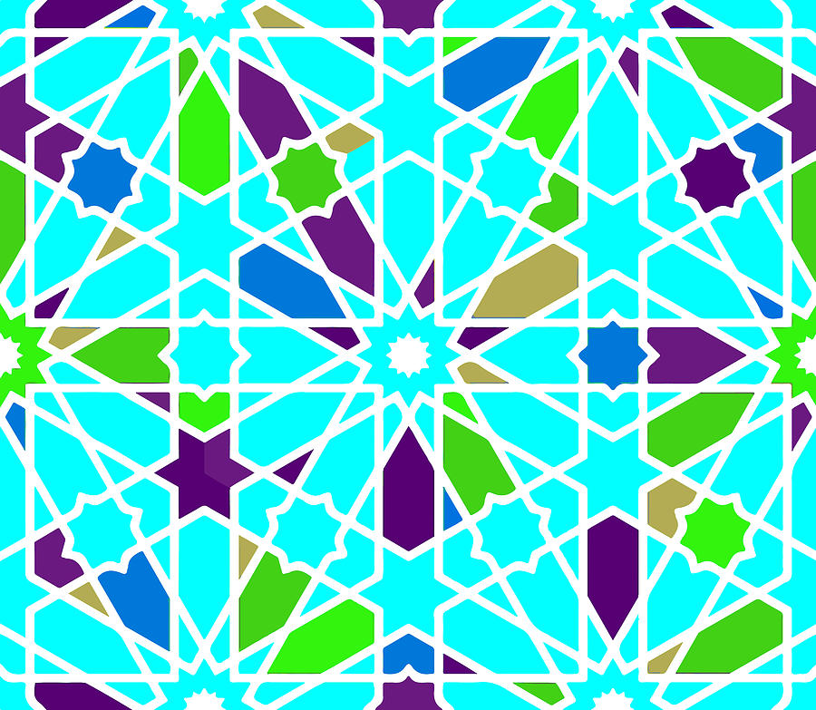 Slamic Style Geometric Tile 5 Digital Art