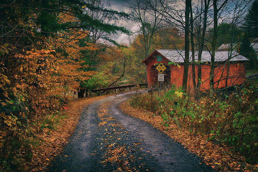 Slaughter House Covered Bridge - Vermont Photograph