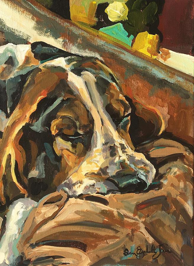 Sleeping Pup Painting