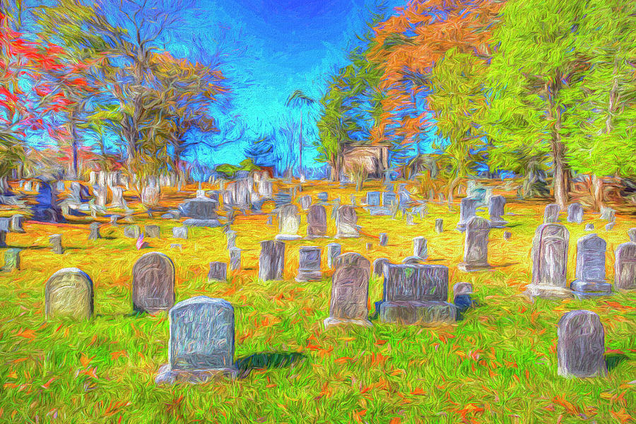 Sleepy Hollow Cemetery Art by David Pyatt