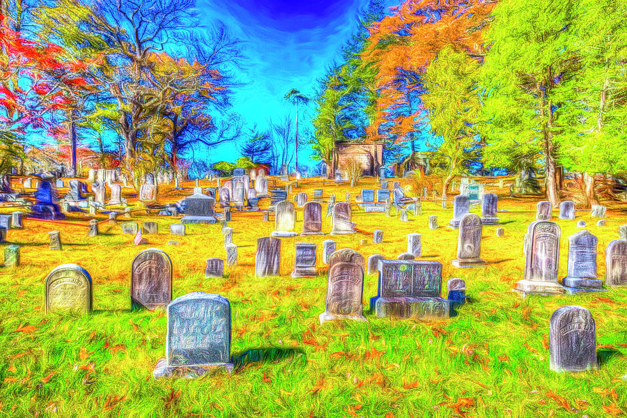 Sleepy Hollow Cemetery New York Art by David Pyatt