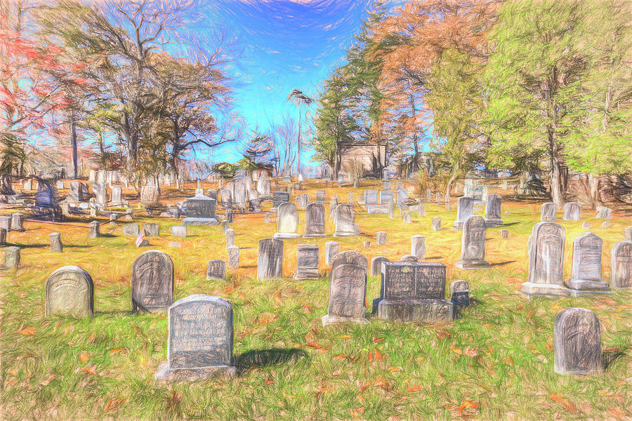 Sleepy Hollow Cemetery Sketch by David Pyatt