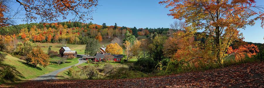 Sleepy Hollow Farm Vermont Panorama by OLena Art - Lena Owens