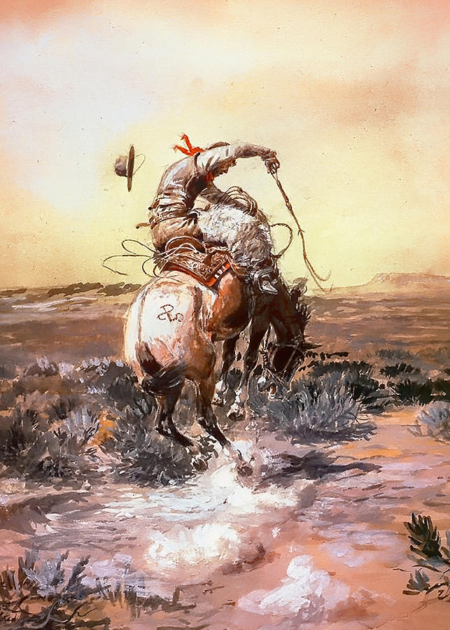 Charles Russell Painting - Slick Rider by Charles Russell
