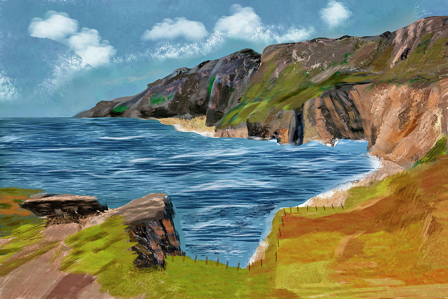 Slieve League Donegal Ireland Irish Landscape Painting