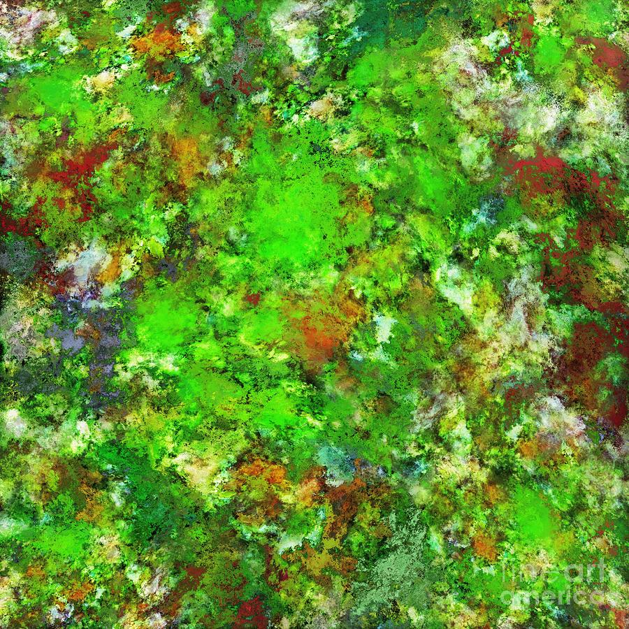 Slippery Digital Art - Slippery Green Rocks by Keith Mills
