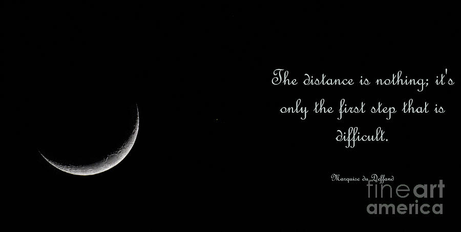 Sliver Moon Phase - Distance is Nothing by Dale Powell