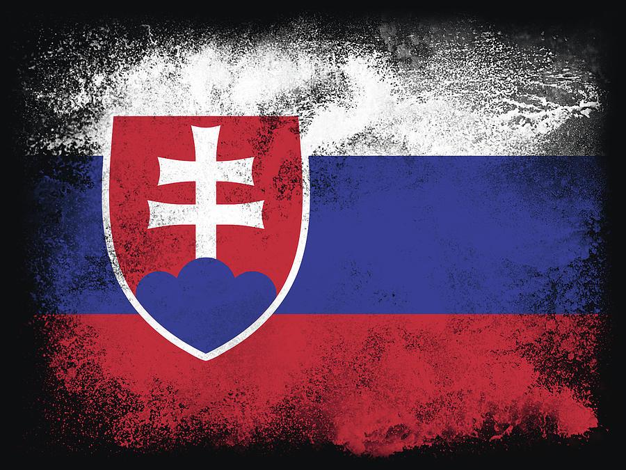 Slovakia Flag Digital Art