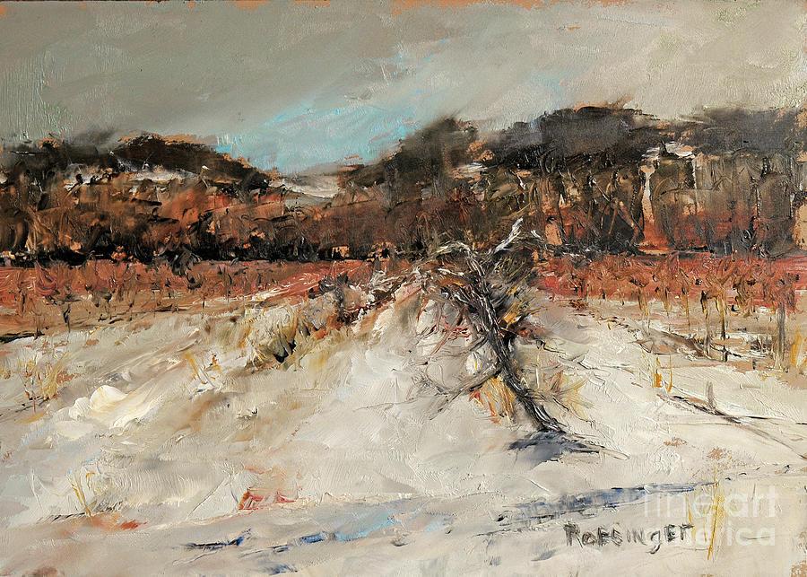 Vineyard Painting - Slumbering Vineyard by Paint Box Studio