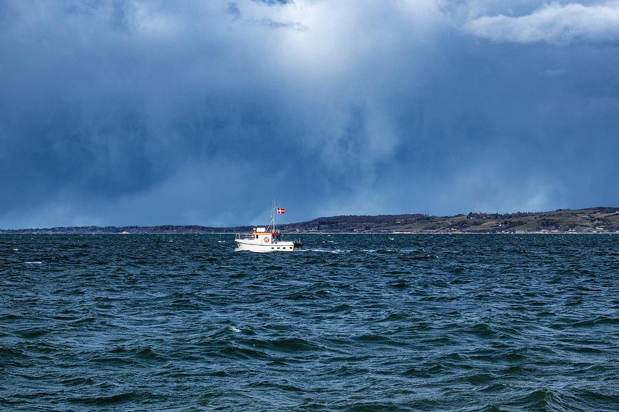 Small Boat Dark Sky Photograph