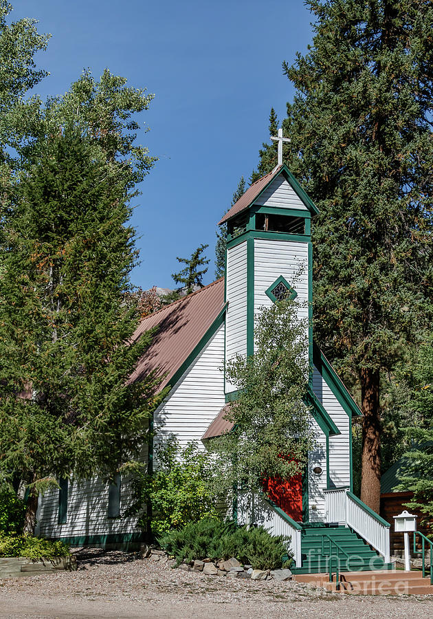 Small Church In The Woods. Photograph