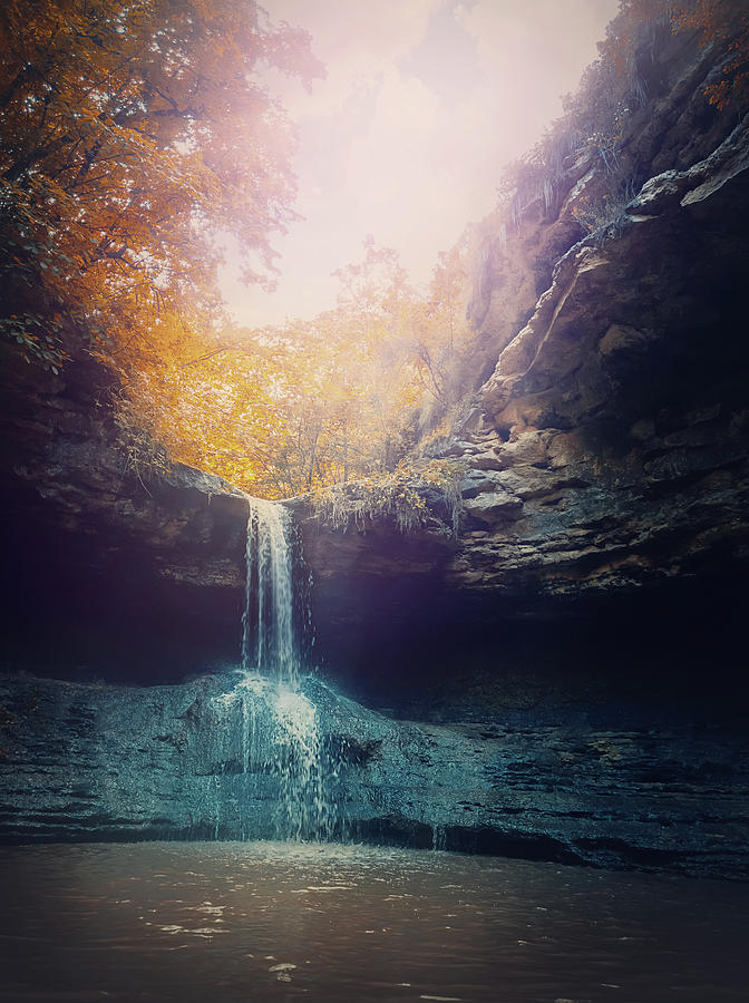 Small Creek Waterfall Photograph